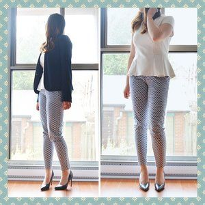 H&M Patterned Dress Pants